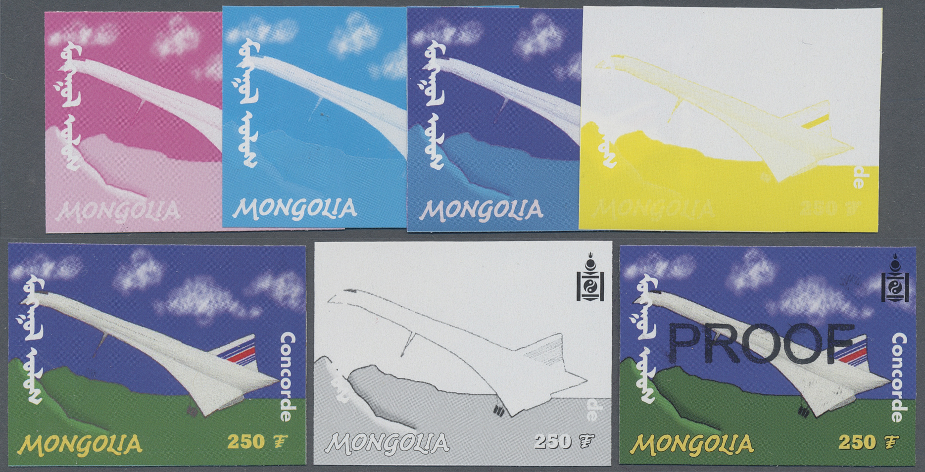 Concorde Luftfahrt Transport Niger Mnh Stempelset 2 Sheets Briefmarken