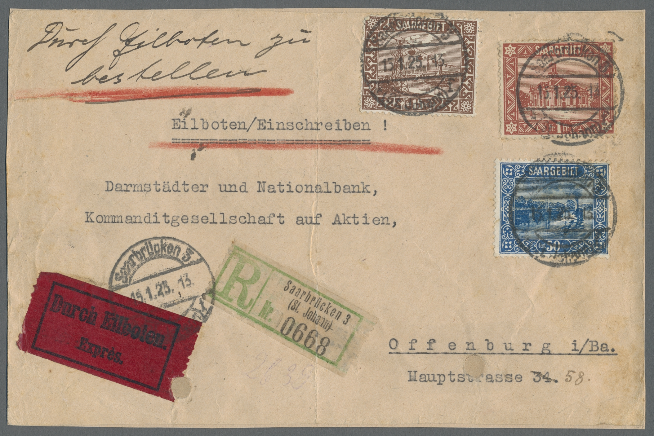 Lot 28869 - Deutsche Abstimmungsgebiete: Saargebiet  -  Auktionshaus Christoph Gärtner GmbH & Co. KG Sale #46 Gollcetions Germany - including the suplement