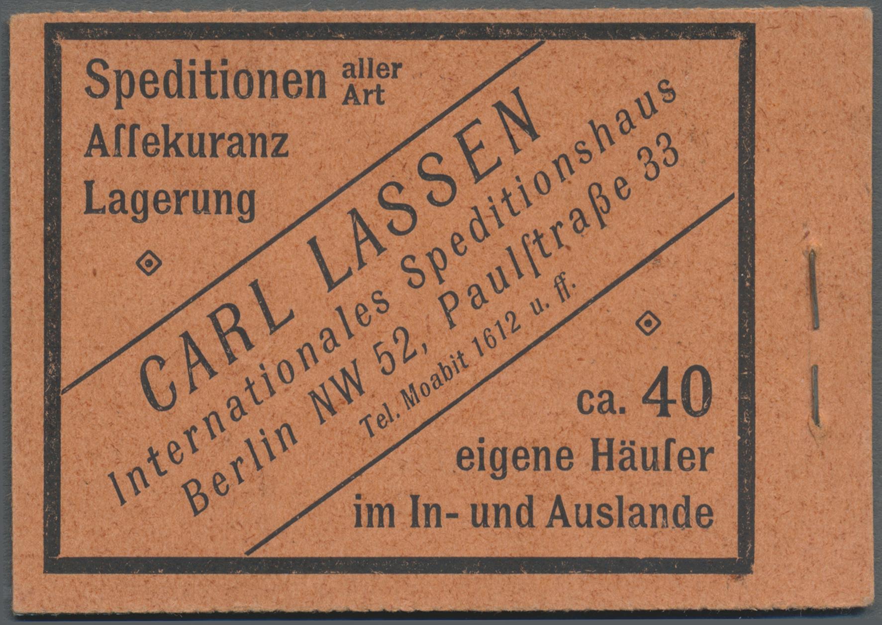 Lot 21608 - Deutsches Reich - Markenheftchen  -  Auktionshaus Christoph Gärtner GmbH & Co. KG Single lots Germany + Picture Postcards. Auction #39 Day 5