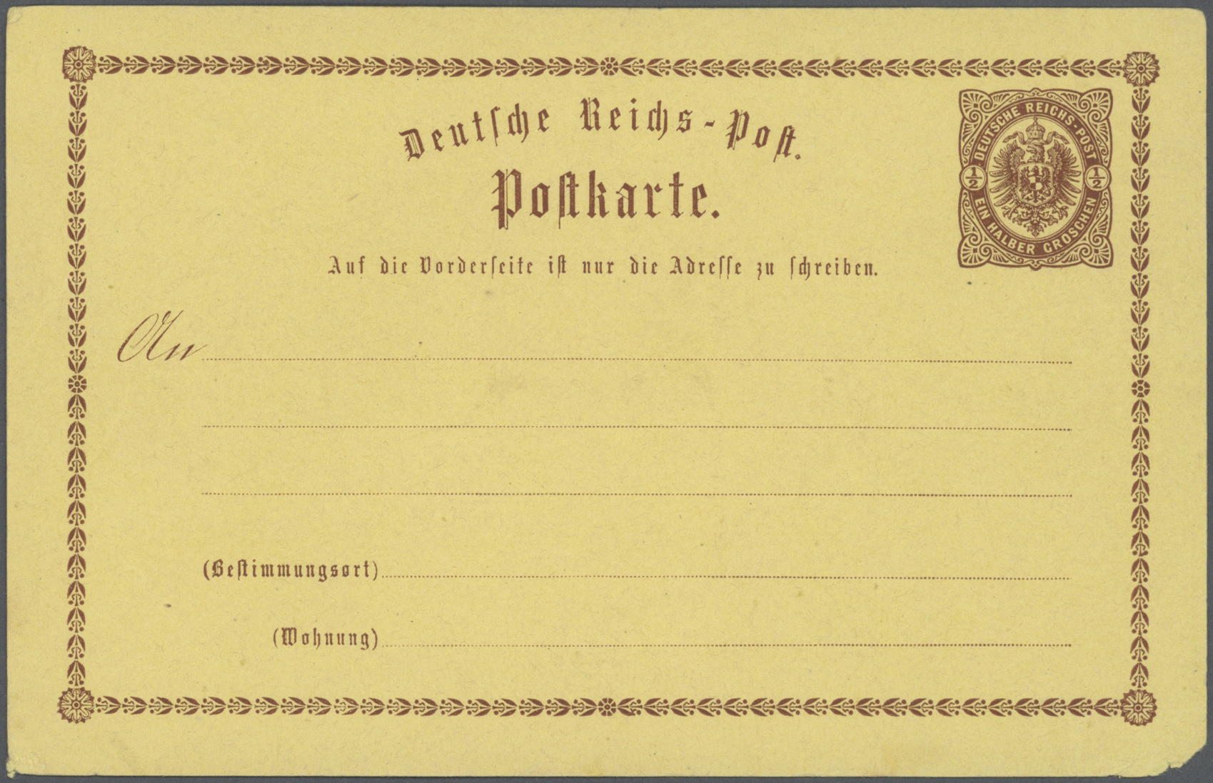Lot 36840 - Deutsches Reich - Privatganzsachen  -  Auktionshaus Christoph Gärtner GmbH & Co. KG Sale #44 Collections Germany
