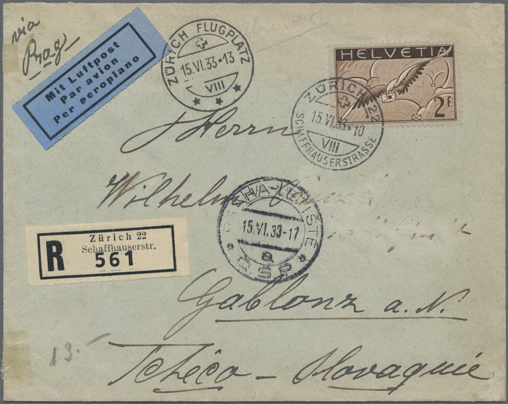 Lot 19046 - schweiz  -  Auktionshaus Christoph Gärtner GmbH & Co. KG Sale #48 collections Overseas  Airmail / Ship mail & Thematics