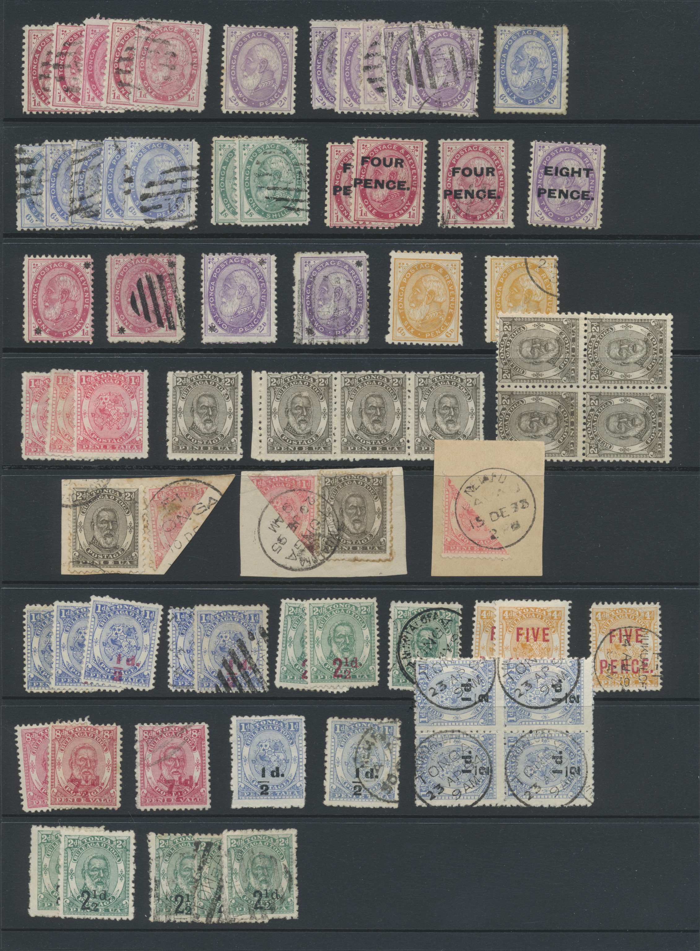 Stamp Auction - tonga - Sale #43 Asia, Collections Overseas