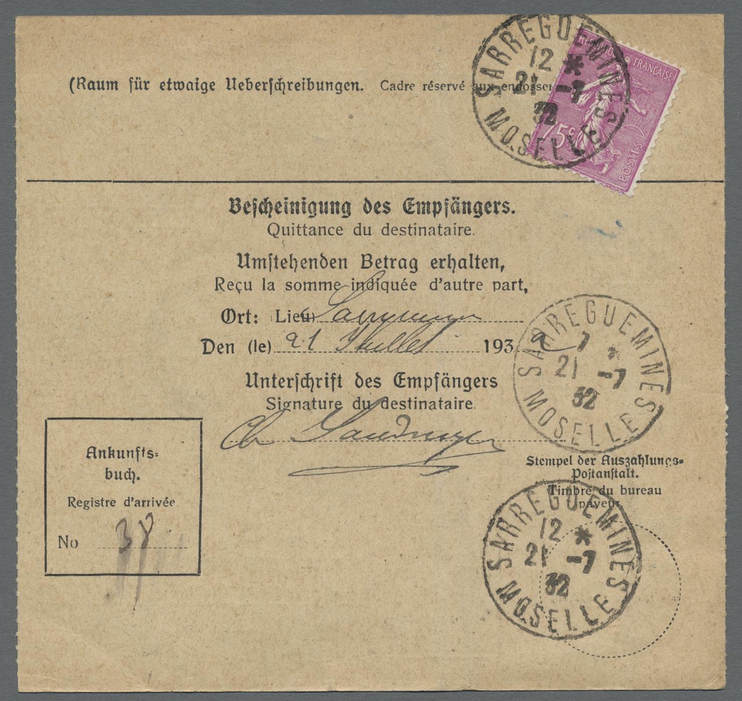 Lot 28856 - Deutsche Abstimmungsgebiete: Saargebiet  -  Auktionshaus Christoph Gärtner GmbH & Co. KG Sale #46 Gollcetions Germany - including the suplement