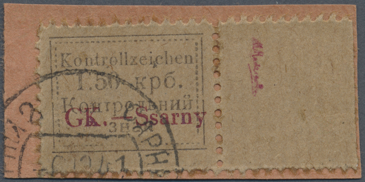 Lot 23508 - Dt. Besetzung II WK - Ukraine - Sarny  -  Auktionshaus Christoph Gärtner GmbH & Co. KG Single lots Germany + Picture Postcards. Auction #39 Day 5