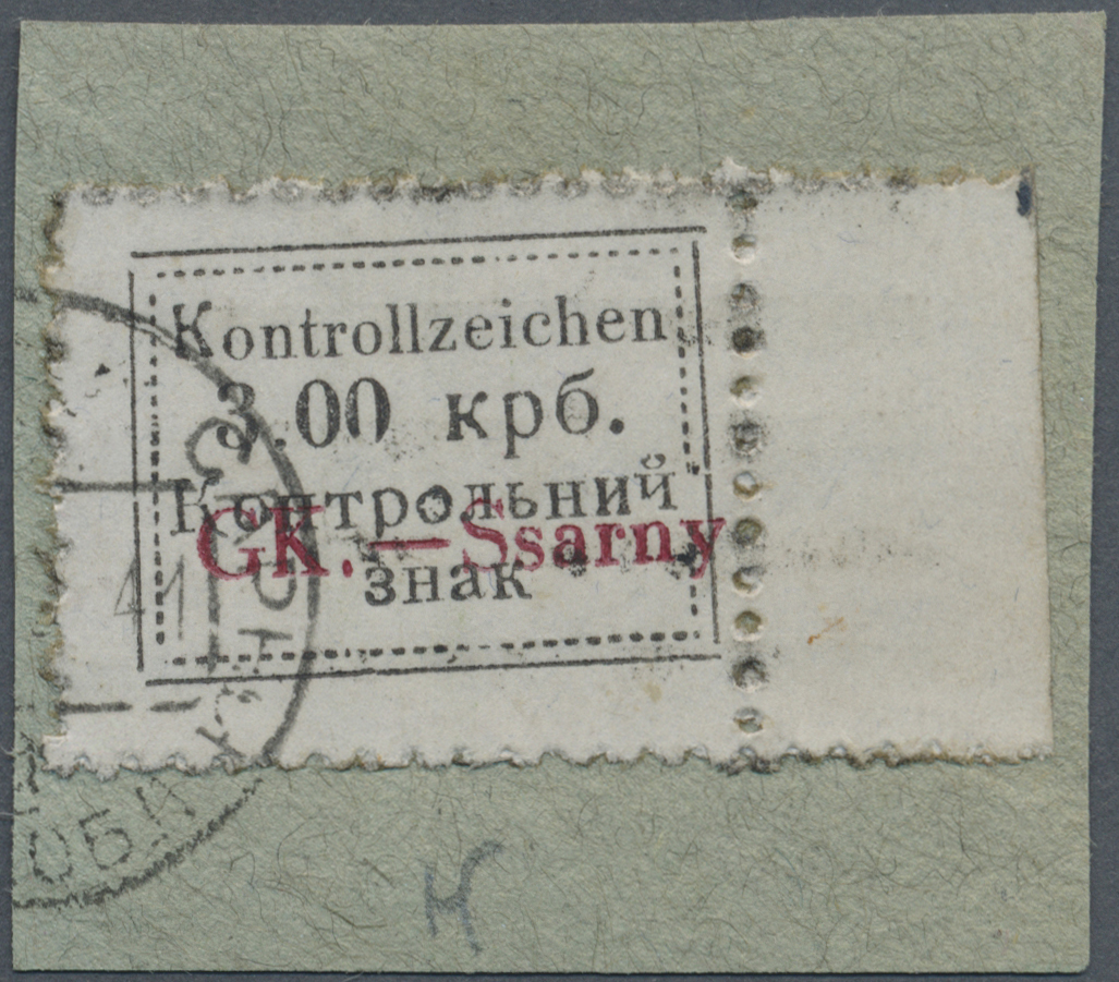 Lot 23511 - Dt. Besetzung II WK - Ukraine - Sarny  -  Auktionshaus Christoph Gärtner GmbH & Co. KG Single lots Germany + Picture Postcards. Auction #39 Day 5