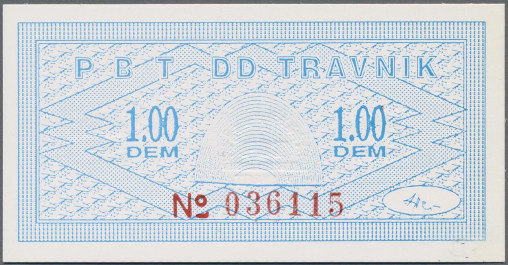 Lot 00359 - Bosnia & Herzegovina / Bosnien & Herzegovina   Banknoten  -  Auktionshaus Christoph Gärtner GmbH & Co. KG 51th Auction - Day 1