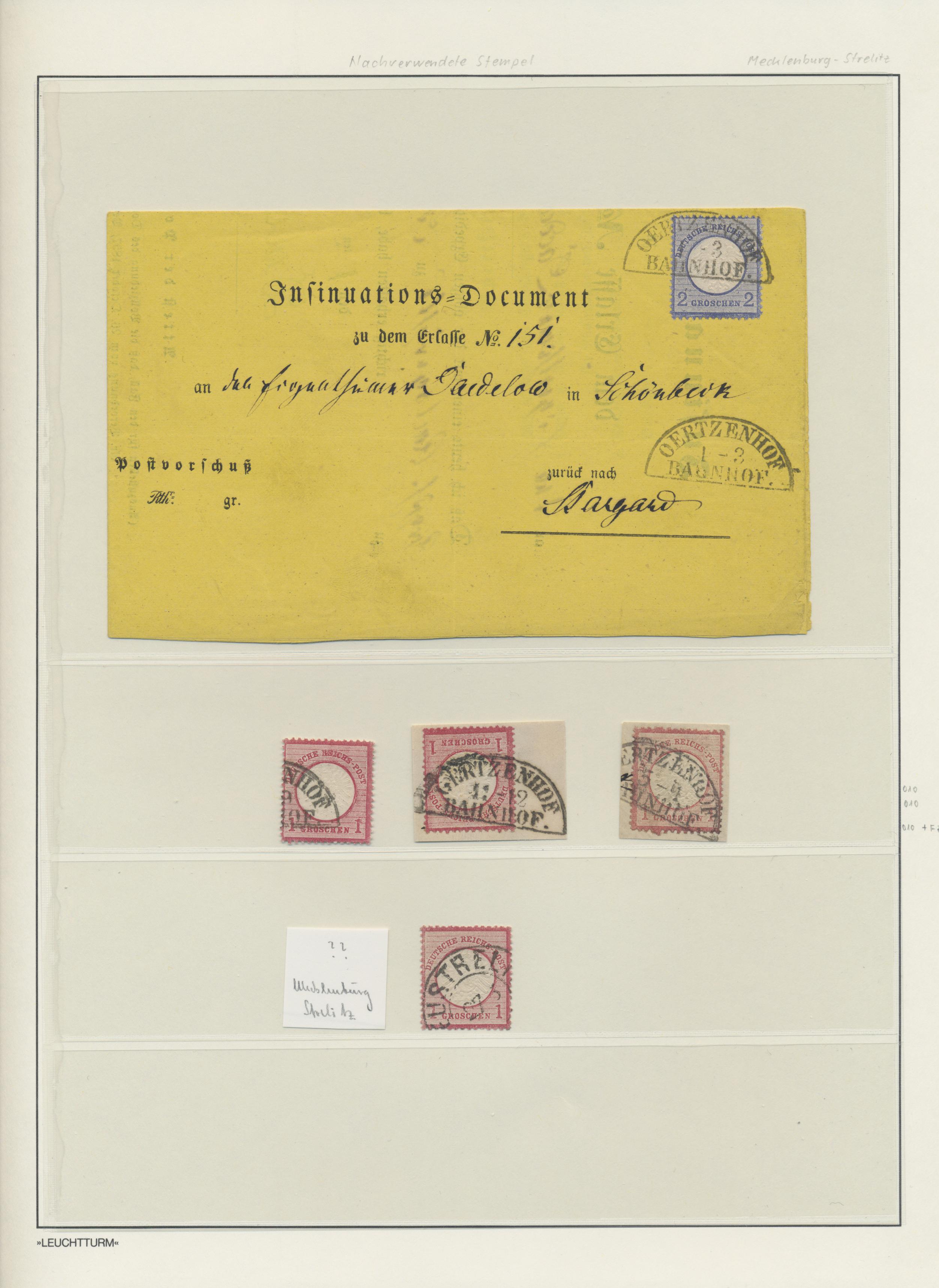 Lot 36264 - Mecklenburg-Strelitz - Stempel  -  Auktionshaus Christoph Gärtner GmbH & Co. KG Sale #44 Collections Germany