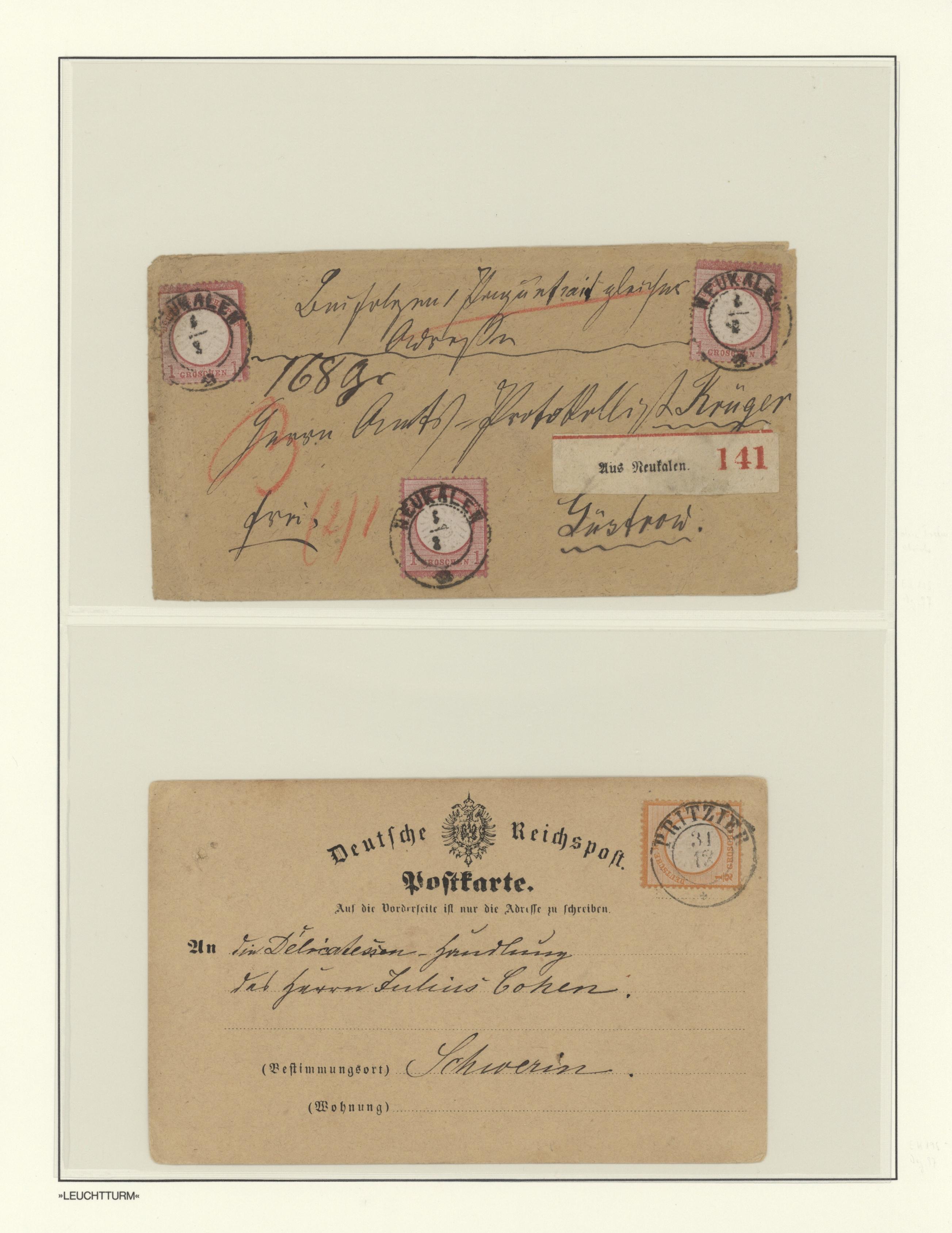 Lot 36263 - Mecklenburg-Schwerin - Nachverwendete Stempel  -  Auktionshaus Christoph Gärtner GmbH & Co. KG Sale #44 Collections Germany
