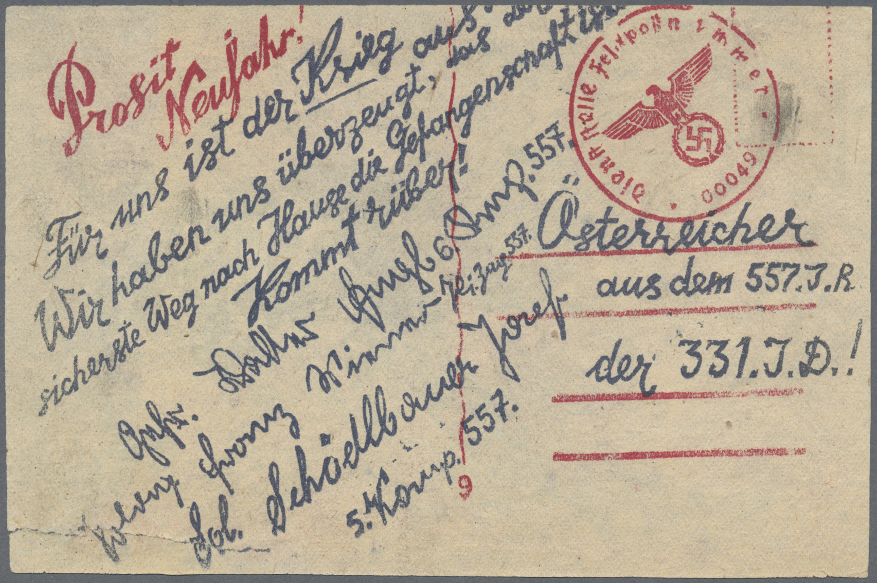 Lot 23593 - Kriegs- und Propagandafälschungen  -  Auktionshaus Christoph Gärtner GmbH & Co. KG Single lots Germany + Picture Postcards. Auction #39 Day 5