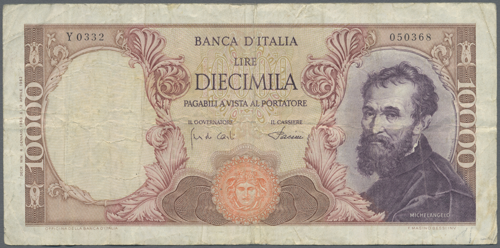 Lot 01057 - Italy / Italien | Banknoten  -  Auktionshaus Christoph Gärtner GmbH & Co. KG Sale #48 The Banknotes