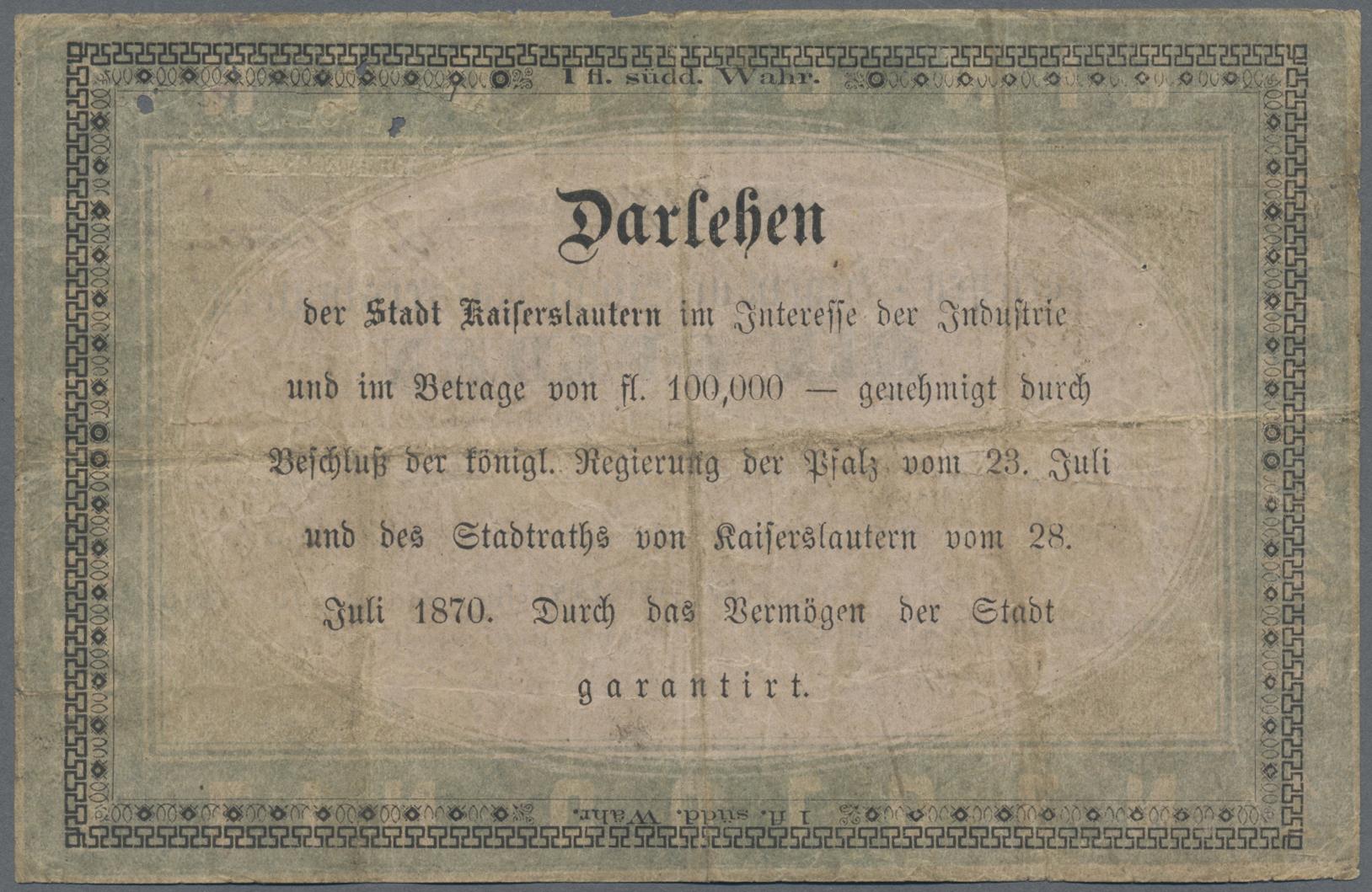 Lot 03312 - Deutschland - Altdeutsche Staaten | Banknoten  -  Auktionshaus Christoph Gärtner GmbH & Co. KG Sale #45 Banknotes Germany/Numismatics