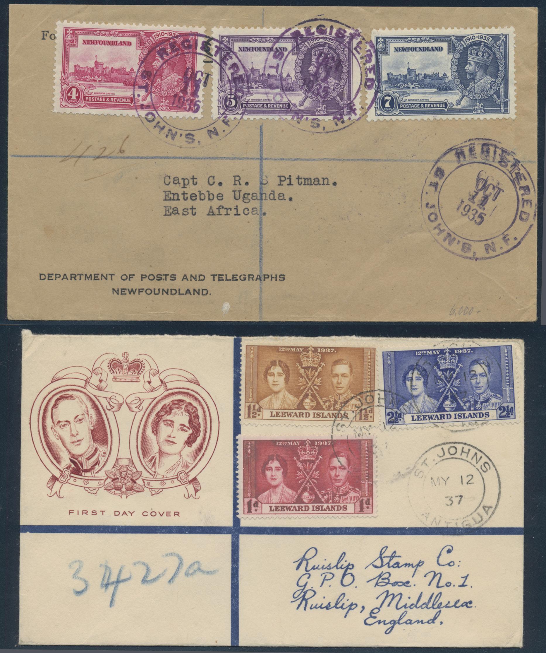 Lot 15094 - britische kolonien  -  Auktionshaus Christoph Gärtner GmbH & Co. KG Sale #48 collections Overseas  Airmail / Ship mail & Thematics