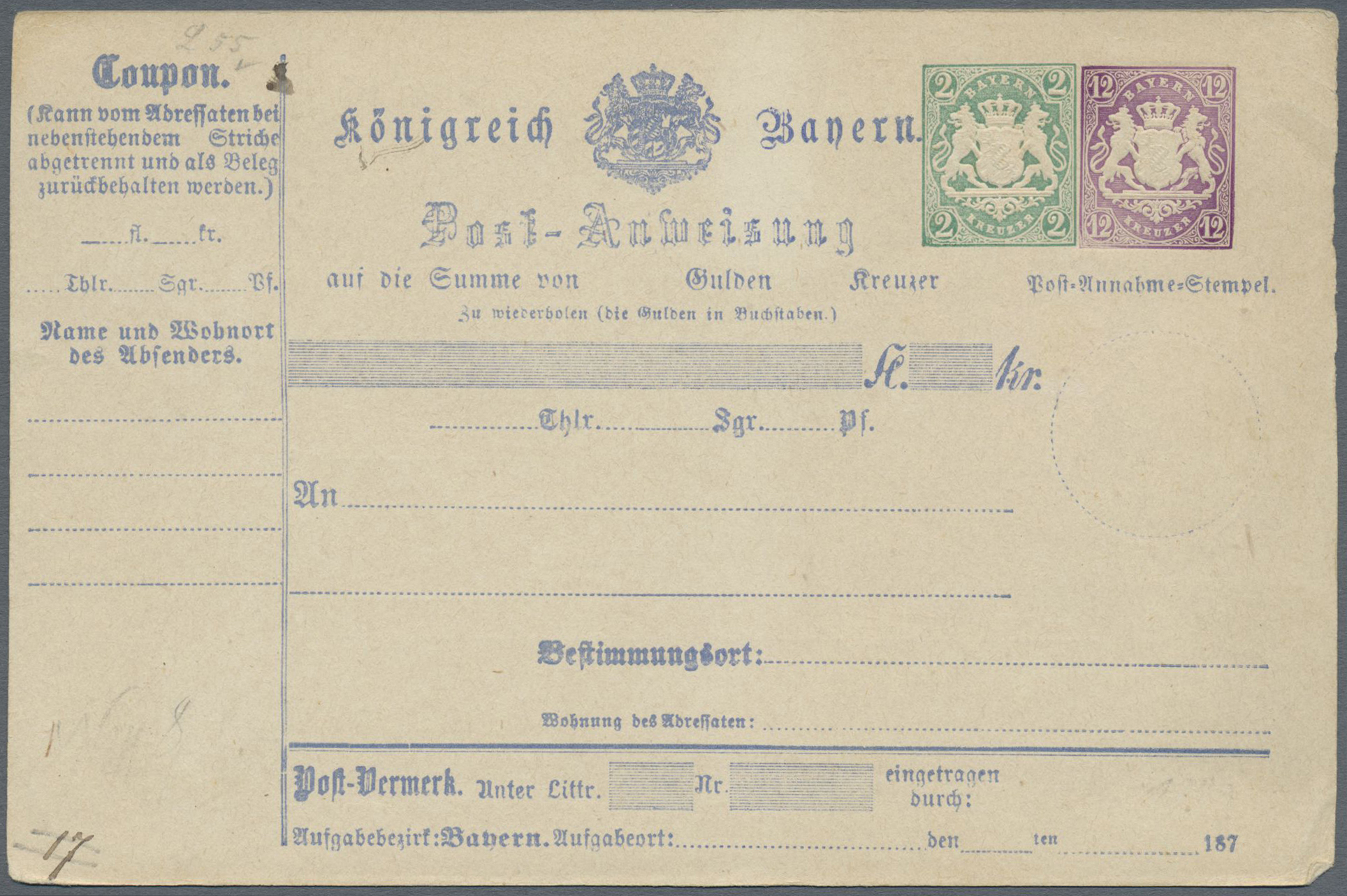Lot 36313 - bayern - ganzsachen  -  Auktionshaus Christoph Gärtner GmbH & Co. KG Collections Germany,  Collections Supplement, Surprise boxes #39 Day 7