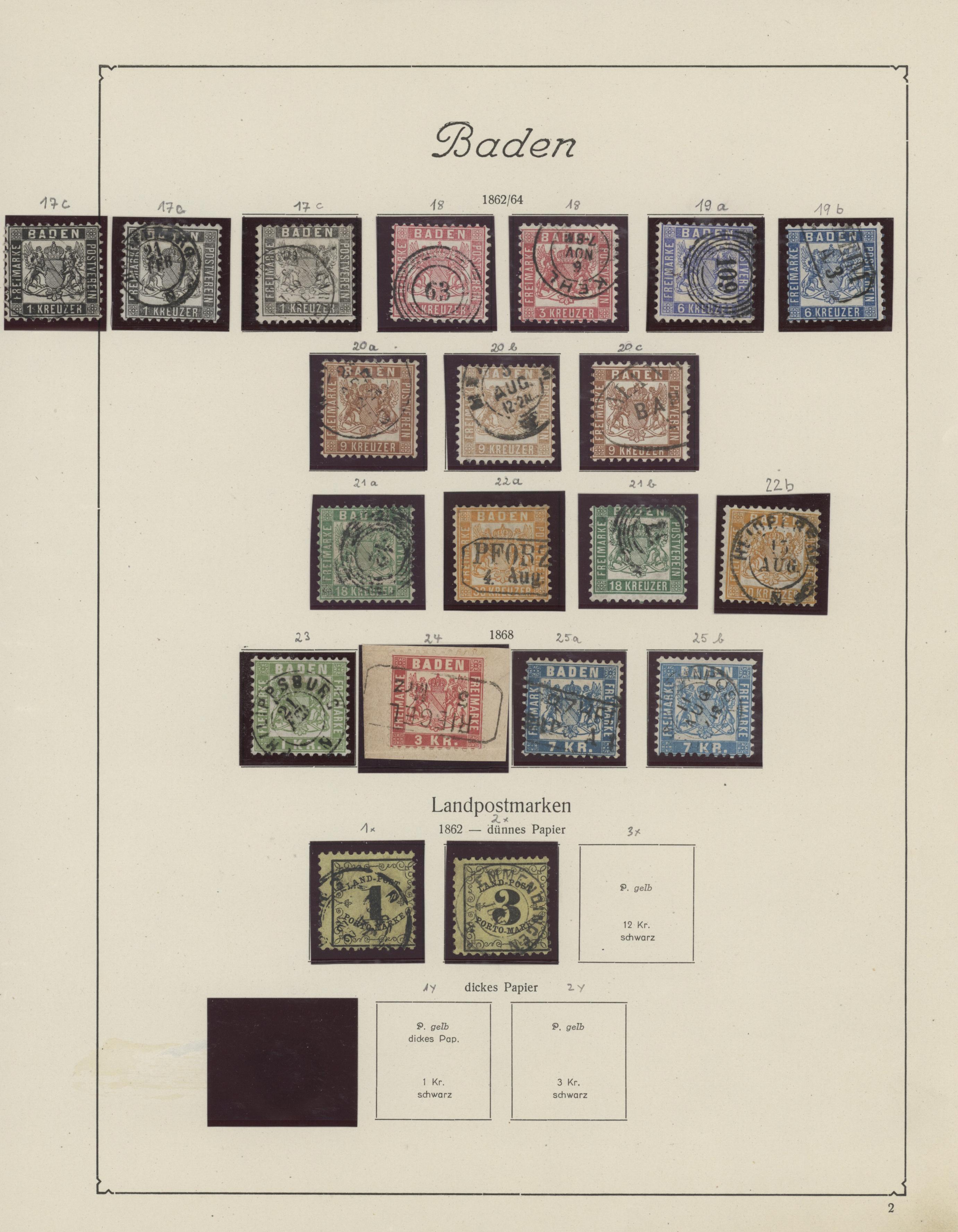 Lot 36143 - Baden - Marken und Briefe  -  Auktionshaus Christoph Gärtner GmbH & Co. KG Sale #44 Collections Germany