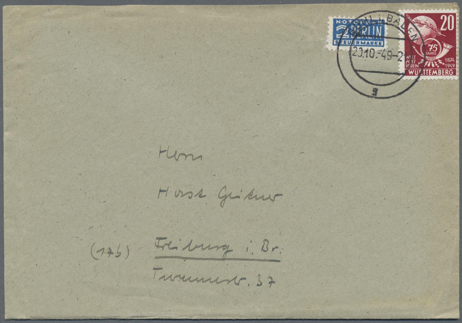 Lot 37505 - französische zone  -  Auktionshaus Christoph Gärtner GmbH & Co. KG Sale #44 Collections Germany
