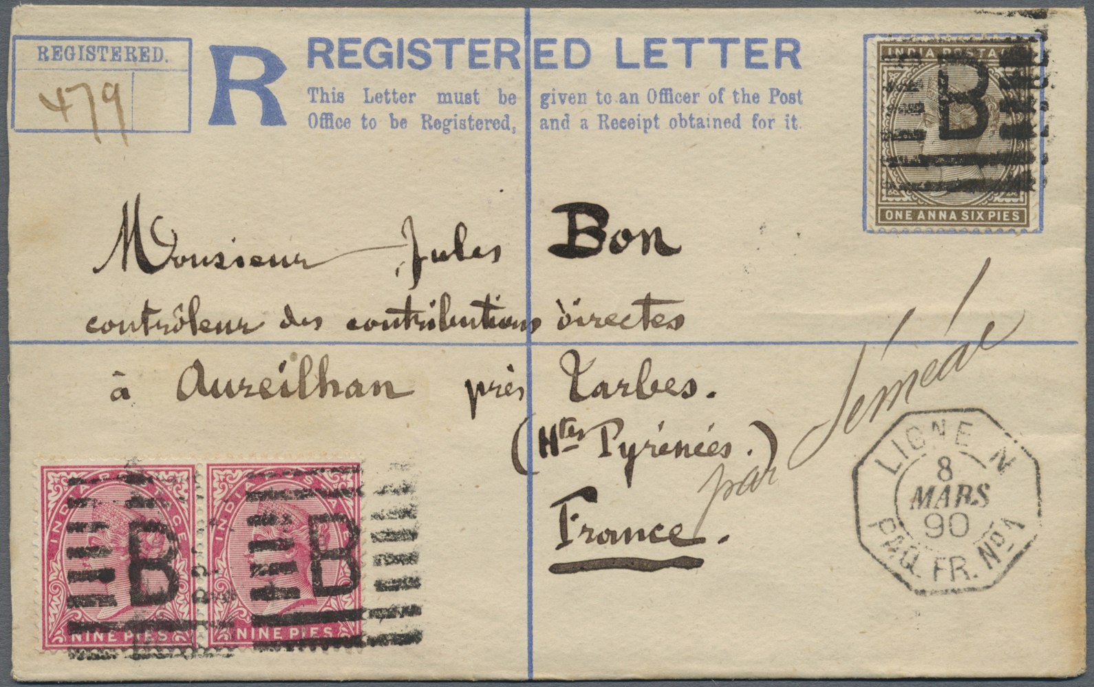 Lot 07117 - aden  -  Auktionshaus Christoph Gärtner GmbH & Co. KG Sale #43 Asia, Overseas, Air & Ships, Mail, Spain, Day 4