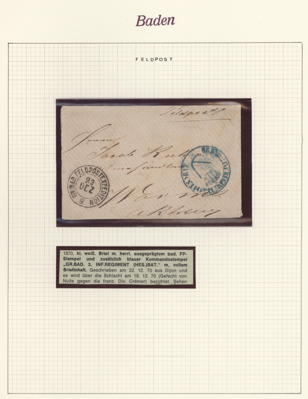 Lot 28147 - Baden - Marken und Briefe  -  Auktionshaus Christoph Gärtner GmbH & Co. KG Sale #46 Gollcetions Germany - including the suplement