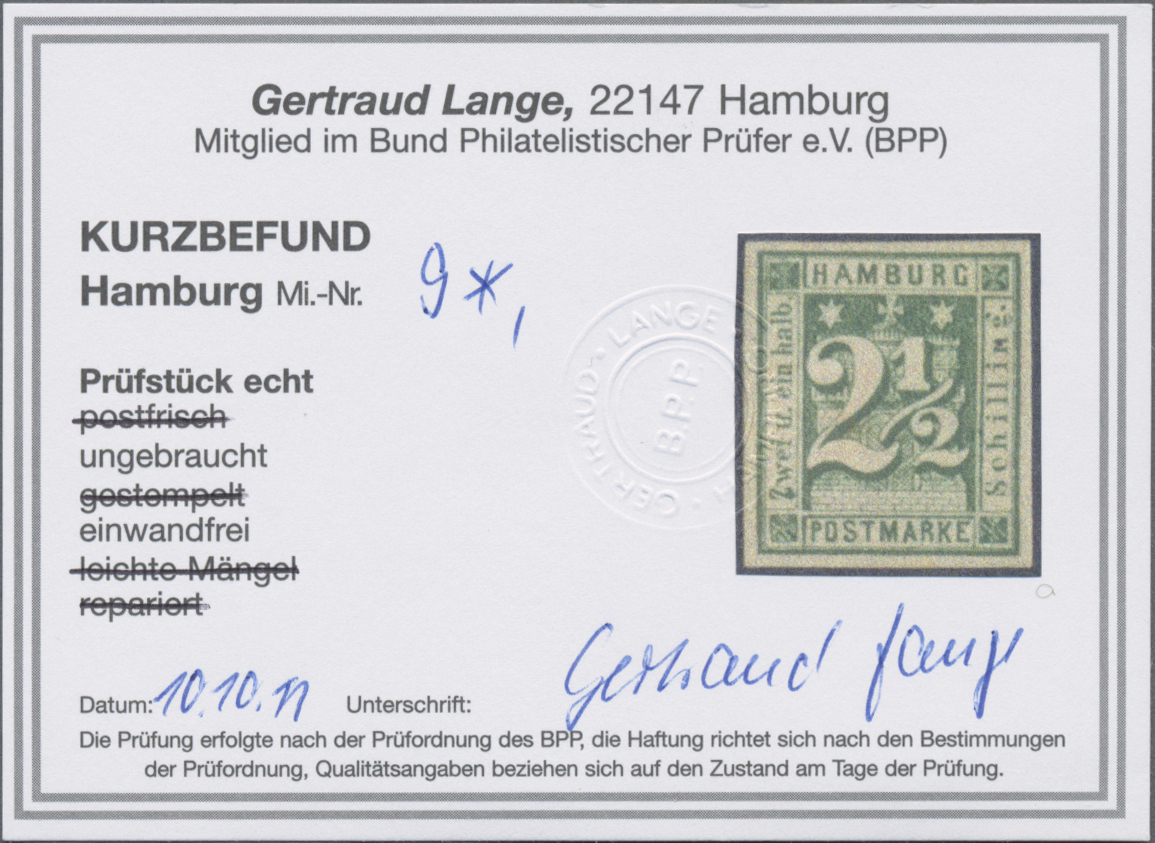 Lot 36233 - Hamburg - Marken und Briefe  -  Auktionshaus Christoph Gärtner GmbH & Co. KG Sale #44 Collections Germany