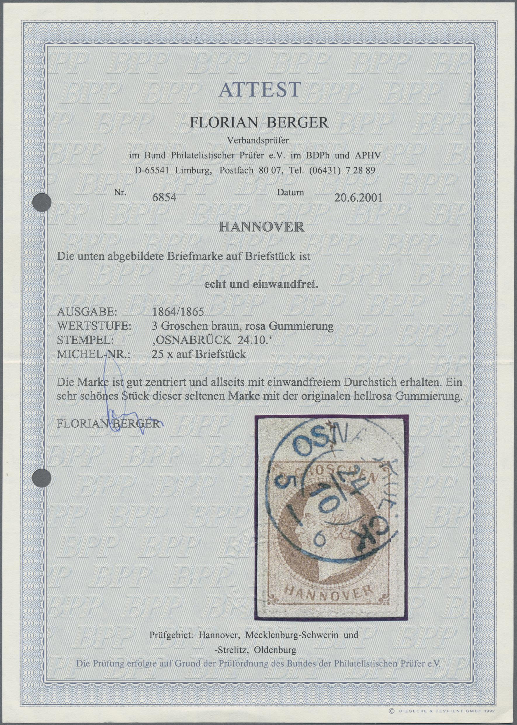 Lot 36248 - Hannover - Marken und Briefe  -  Auktionshaus Christoph Gärtner GmbH & Co. KG Sale #44 Collections Germany