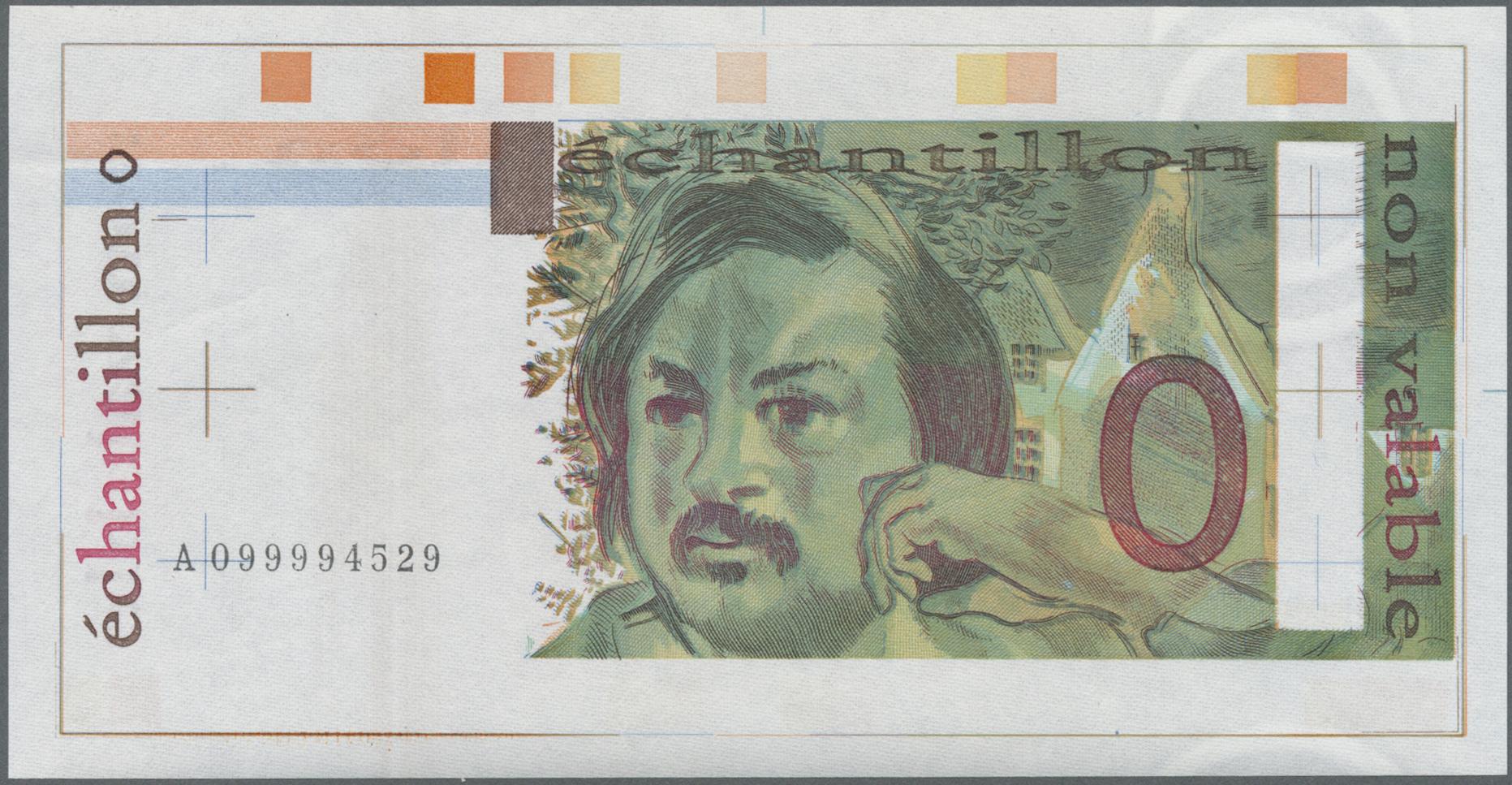 Lot 2311 - Testbanknoten | Banknoten  -  Auktionshaus Christoph Gärtner GmbH & Co. KG Banknotes & Coins Auction #39 Day 2