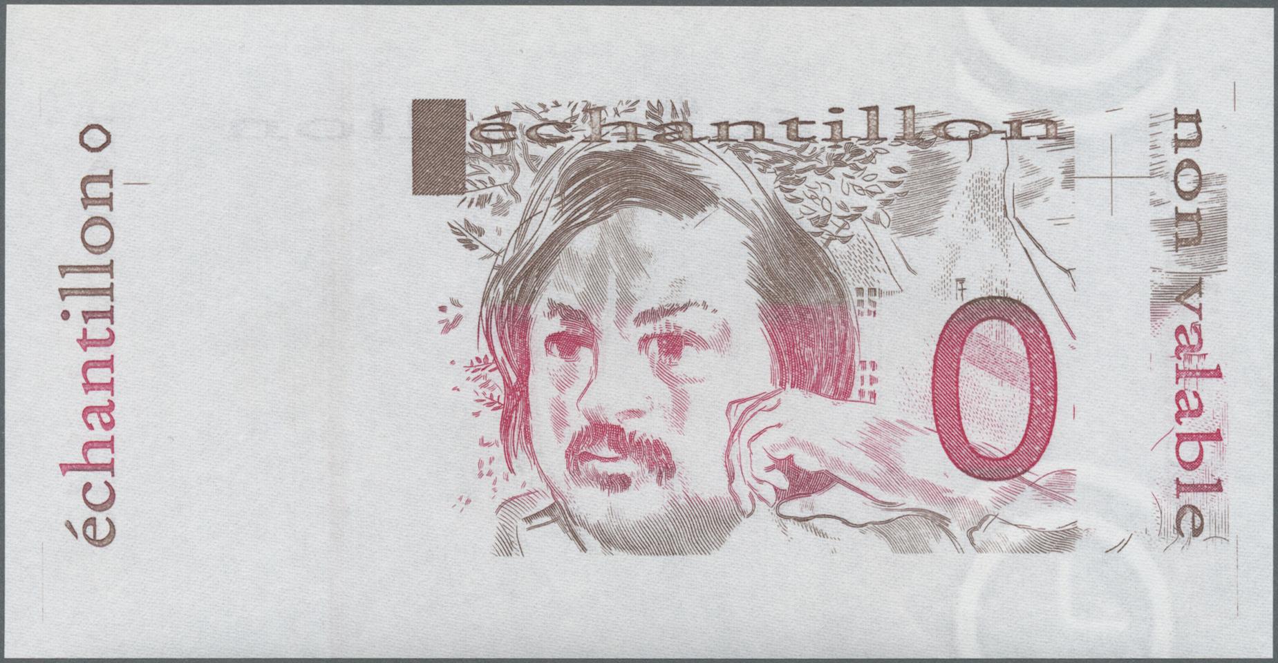 Lot 2312 - Testbanknoten | Banknoten  -  Auktionshaus Christoph Gärtner GmbH & Co. KG Banknotes & Coins Auction #39 Day 2