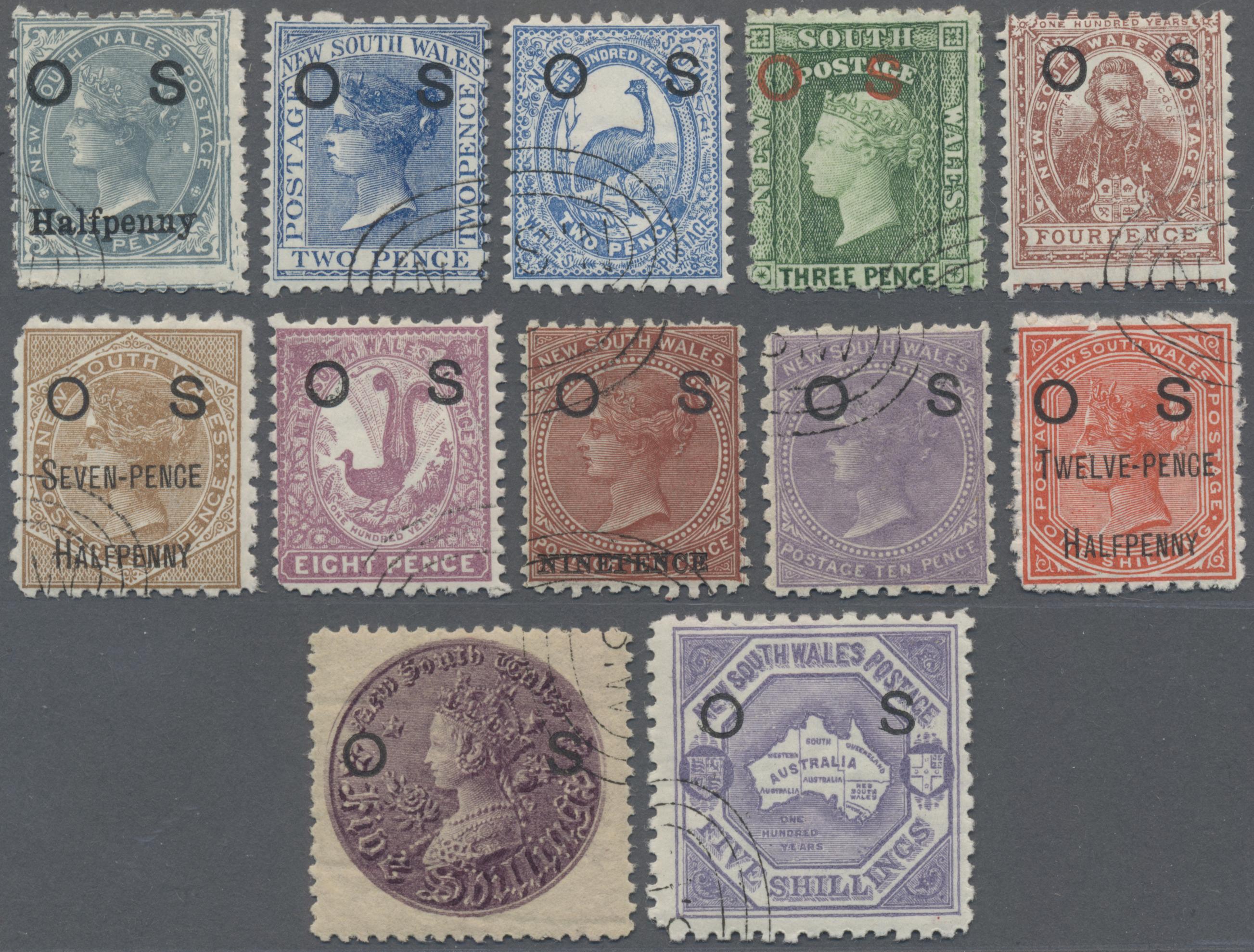 Lot 03012 - Neusüdwales - Dienstmarken  -  Auktionshaus Christoph Gärtner GmbH & Co. KG Sale #49 Special catalogue Australia, USA – Wells Fargo