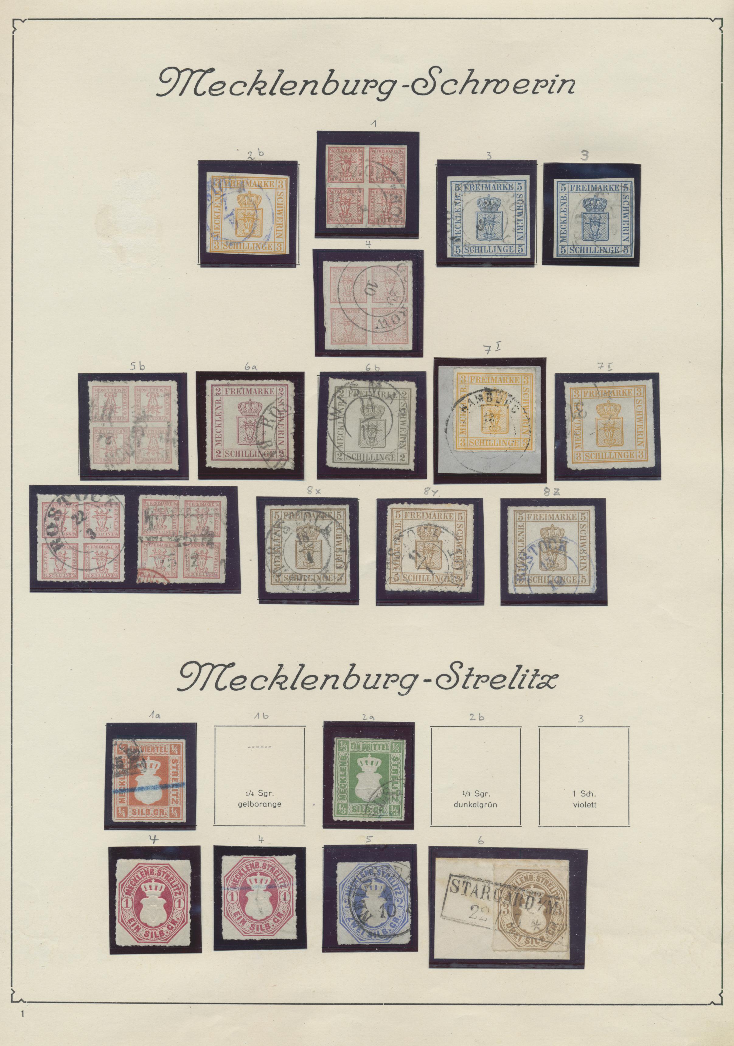 Lot 36262 - Mecklenburg-Schwerin - Marken und Briefe  -  Auktionshaus Christoph Gärtner GmbH & Co. KG Sale #44 Collections Germany