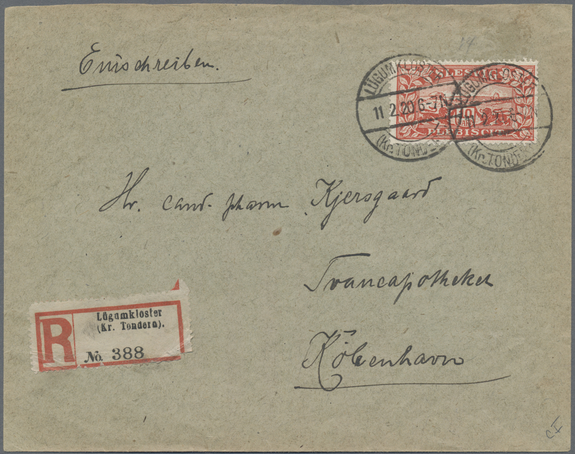 Lot 20945 - Deutsche Abstimmungsgebiete: Schleswig  -  Auktionshaus Christoph Gärtner GmbH & Co. KG Sale #48 Estates, supplement Germany before & after 1945