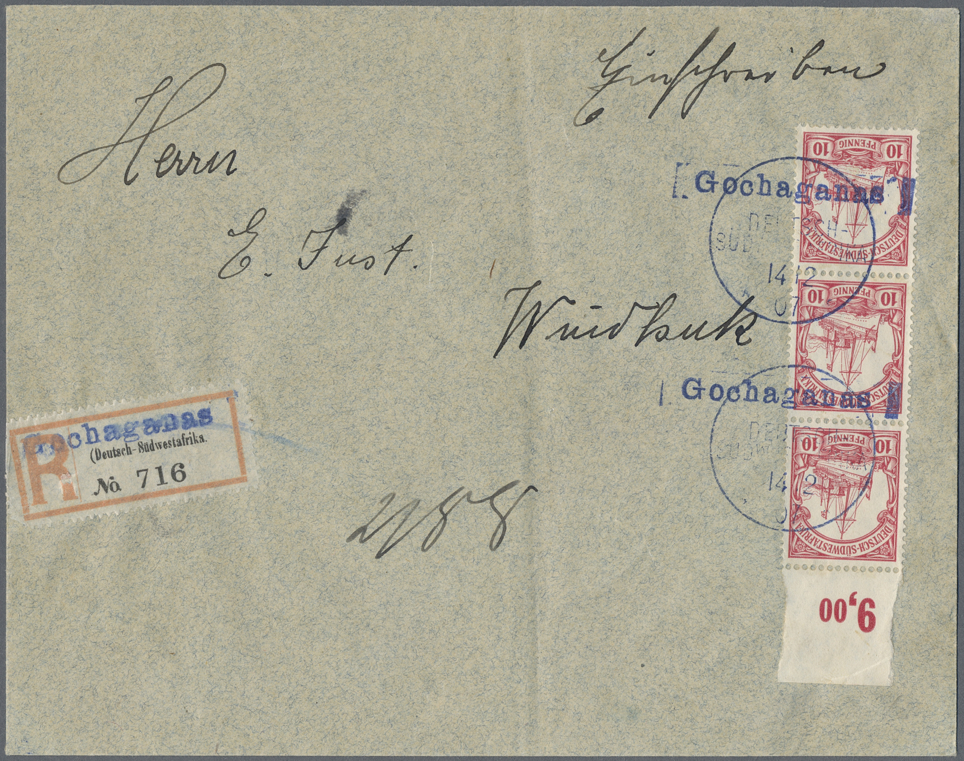 Lot 22680 - Deutsch-Südwestafrika - Stempel  -  Auktionshaus Christoph Gärtner GmbH & Co. KG Sale #44 Germany, Picture Post cards