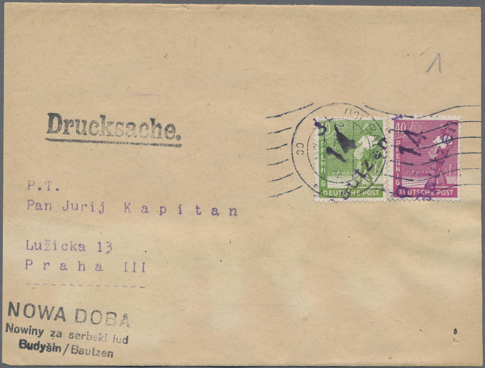 Lot 24227K - Sowjetische Zone - Bezirkshandstempel - II - Bez. 14 (Dresden)  -  Auktionshaus Christoph Gärtner GmbH & Co. KG Sale #44 Germany, Picture Post cards