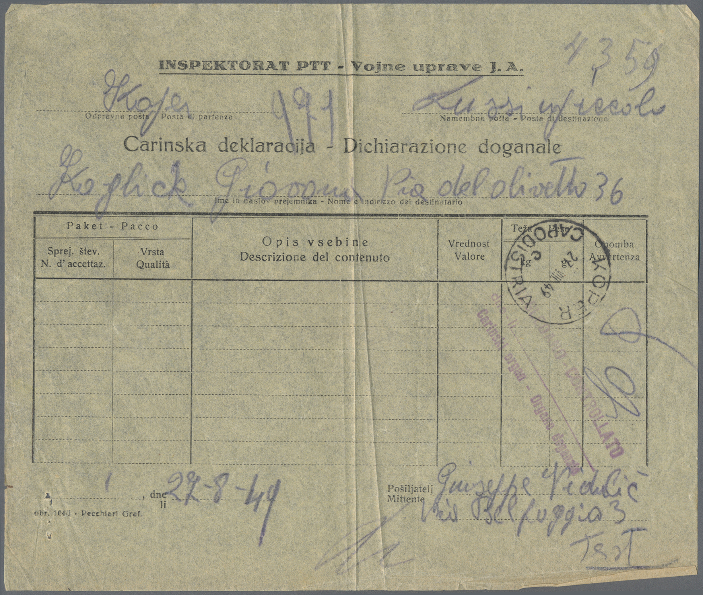 Lot 13413 - Triest - Zone B  -  Auktionshaus Christoph Gärtner GmbH & Co. KG Sale #46 Single lots Asia, Thematics, Overseas, Europe …