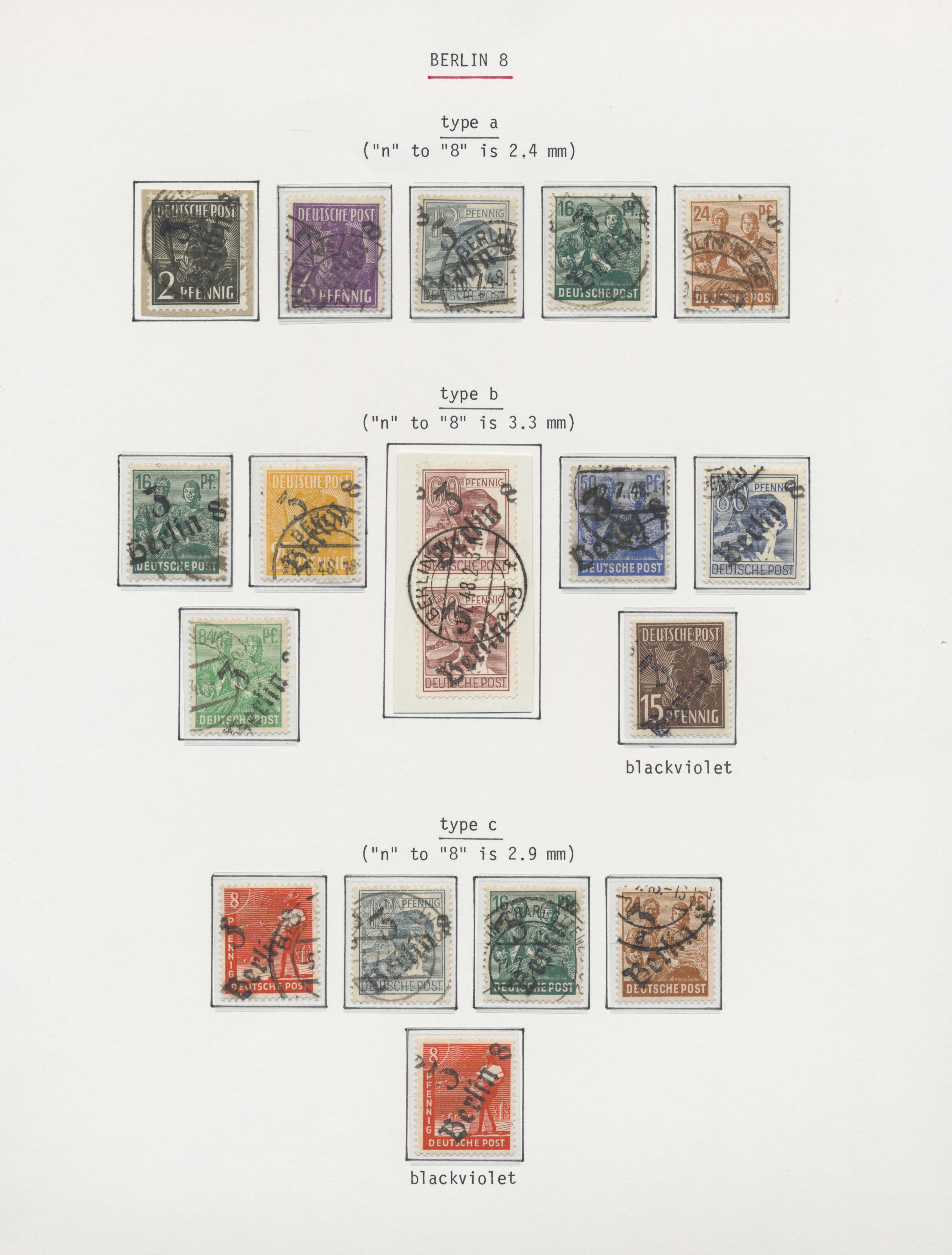 Lot 37337 - Sowjetische Zone - Bezirkshandstempel - I - Bez. 3 (Berlin)  -  Auktionshaus Christoph Gärtner GmbH & Co. KG Sale #44 Collections Germany