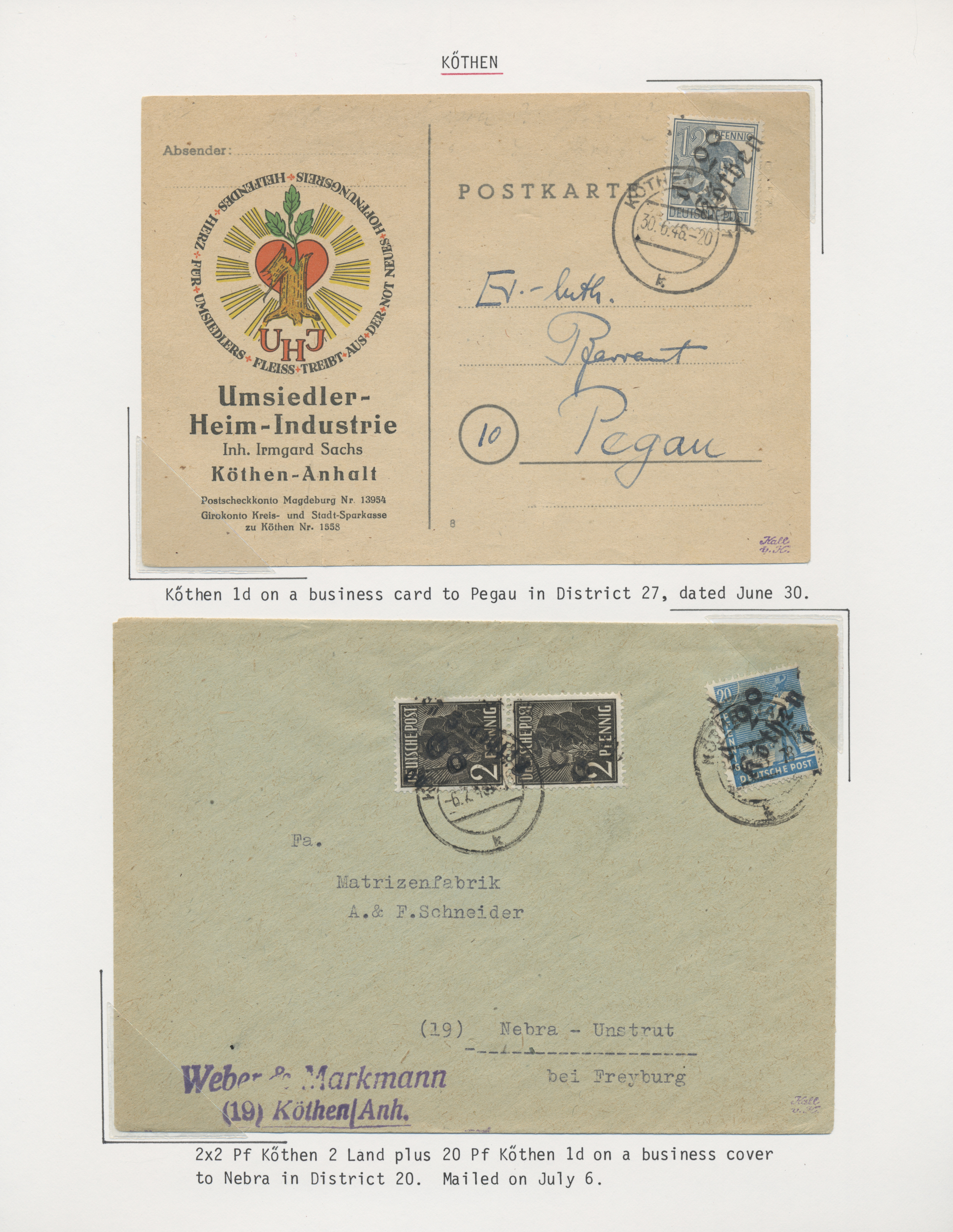 Lot 37340 - Sowjetische Zone - Bezirkshandstempel - VI - Bez. 29/2° (Magdeburg)  -  Auktionshaus Christoph Gärtner GmbH & Co. KG Sale #44 Collections Germany