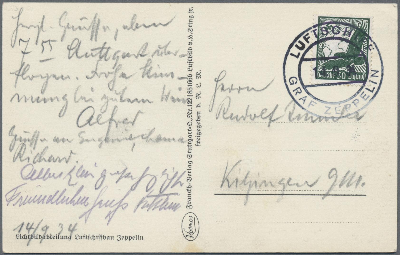 Lot 13220 - zeppelinpost deutschland  -  Auktionshaus Christoph Gärtner GmbH & Co. KG Sale #47 Single lots: Asia, Thematics, Overseas, Europe