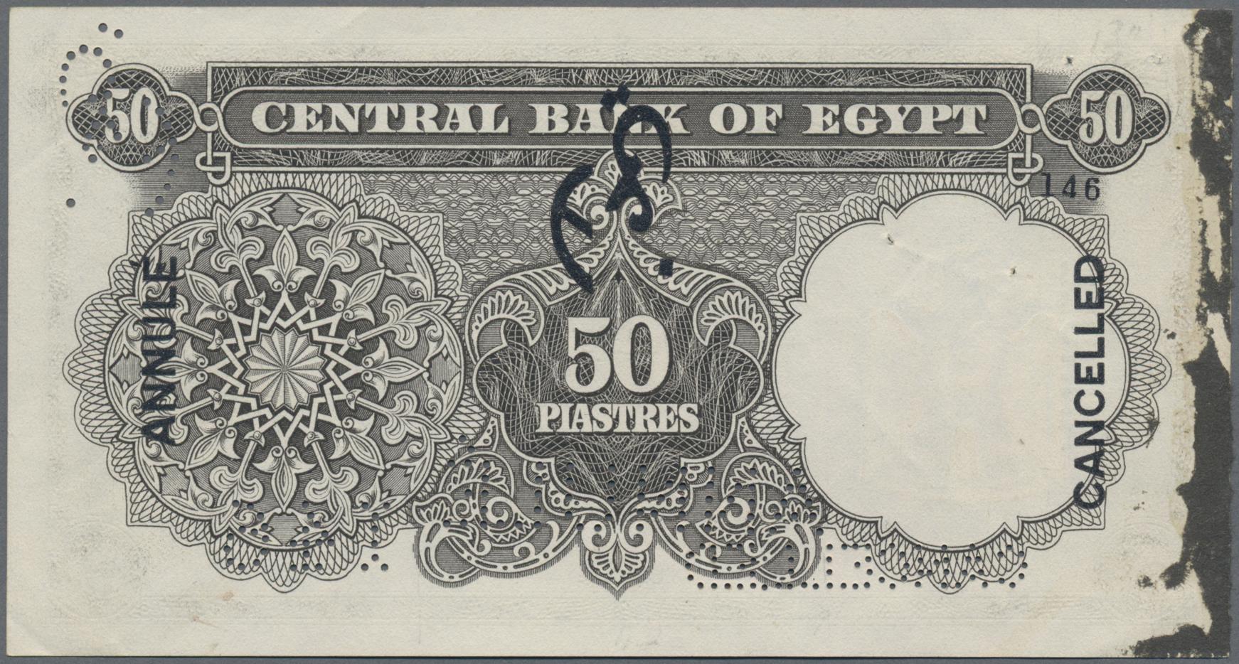 Lot 00211 - Egypt / Ägypten | Banknoten  -  Auktionshaus Christoph Gärtner GmbH & Co. KG Sale #48 The Banknotes