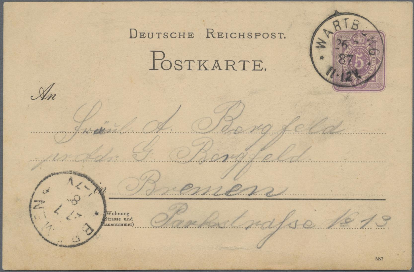 Lot 02604 - Ansichtskarten: Vorläufer  -  Auktionshaus Christoph Gärtner GmbH & Co. KG Special auction