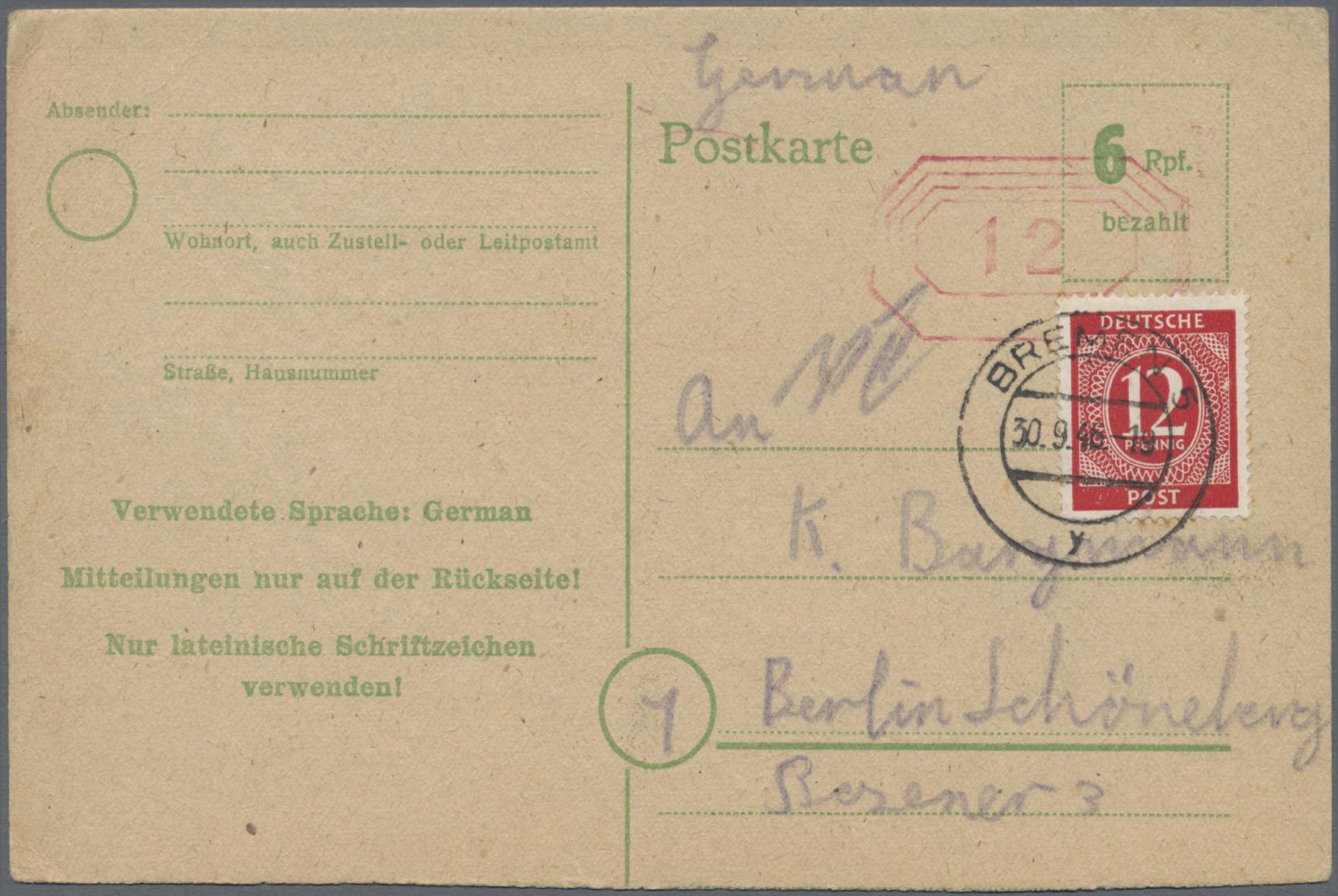 Lot 23974 - alliierte besetzung  -  Auktionshaus Christoph Gärtner GmbH & Co. KG 50th Auction Anniversary Auction - Day 7