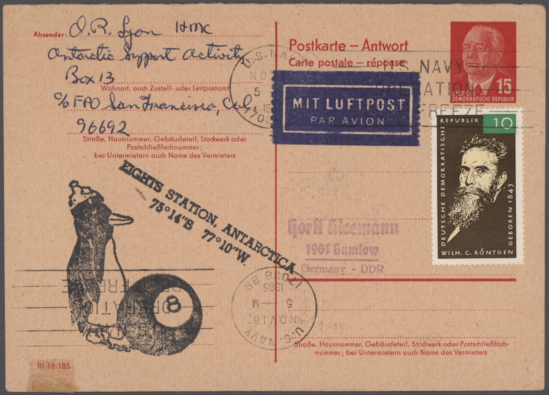 Lot 17619 - thematik: antarktis / antarctic  -  Auktionshaus Christoph Gärtner GmbH & Co. KG 50th Auction Anniversary Auction - Day 5
