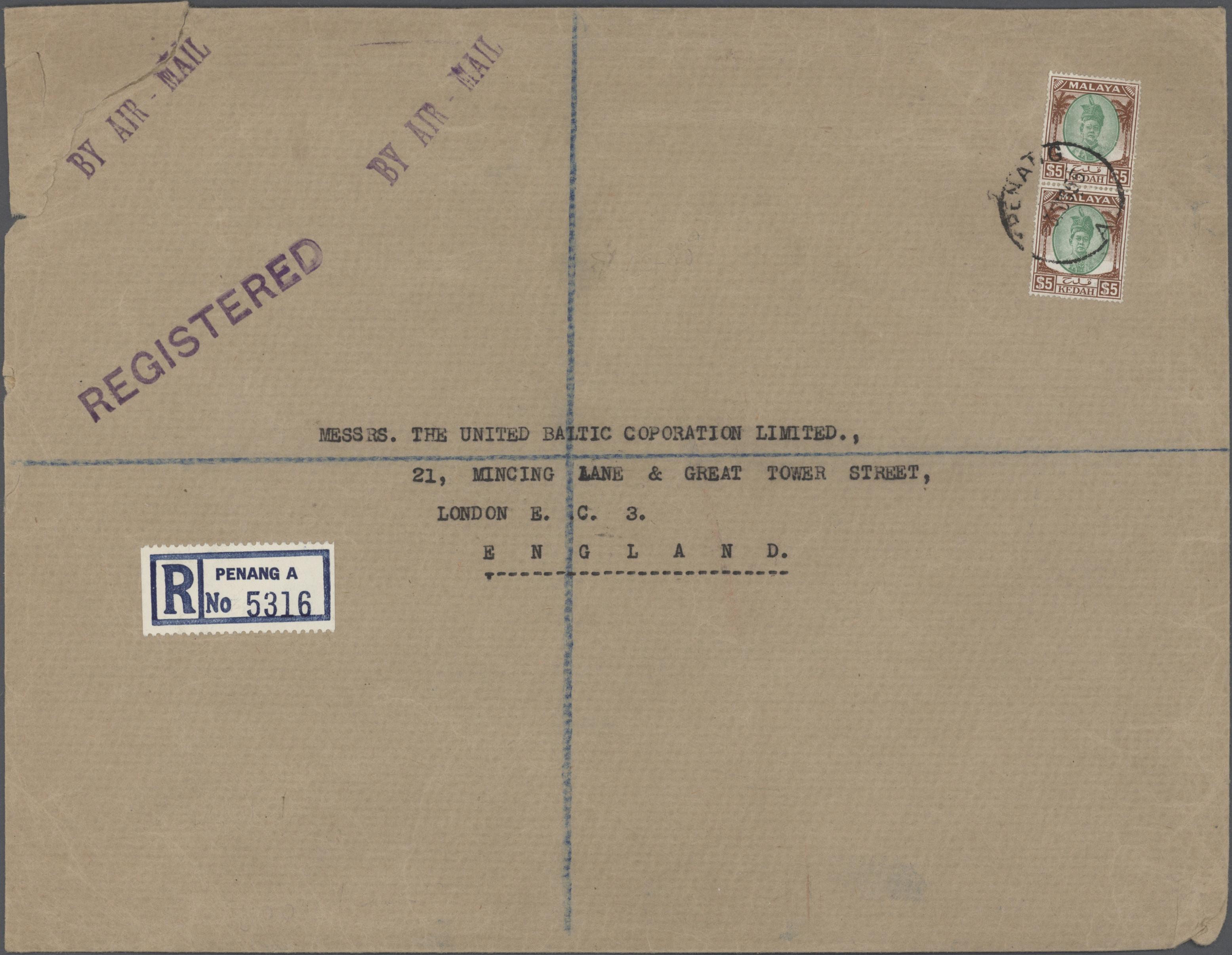 Lot 07908 - Malaiische Staaten - Kedah  -  Auktionshaus Christoph Gärtner GmbH & Co. KG Sale #45- ASIA/OVERSEAS/EUROPE