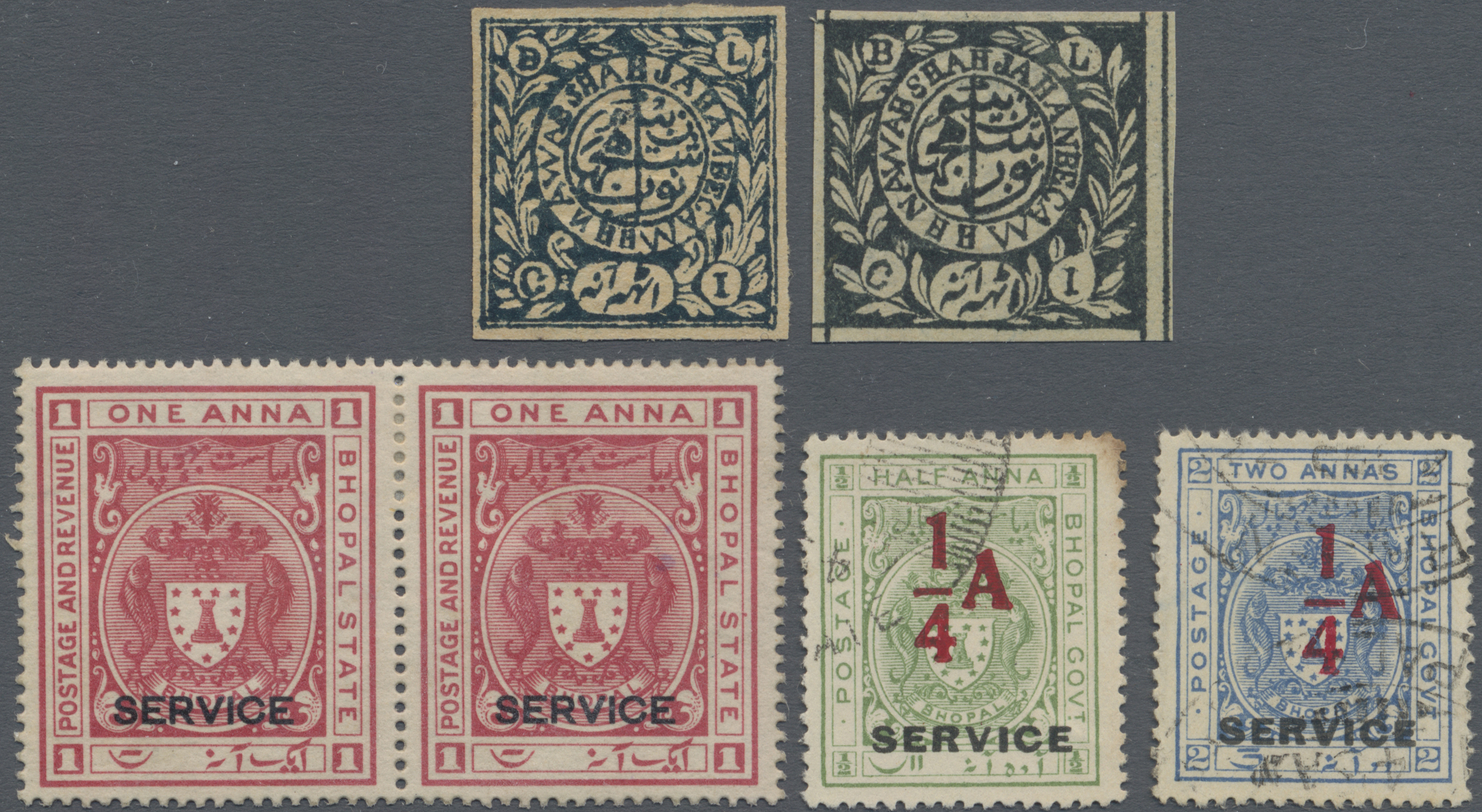 Lot 19209 - Indien - Feudalstaaten - Bhopal  -  Auktionshaus Christoph Gärtner GmbH & Co. KG Sale #47 Collections: Overseas, Thematics, Europe