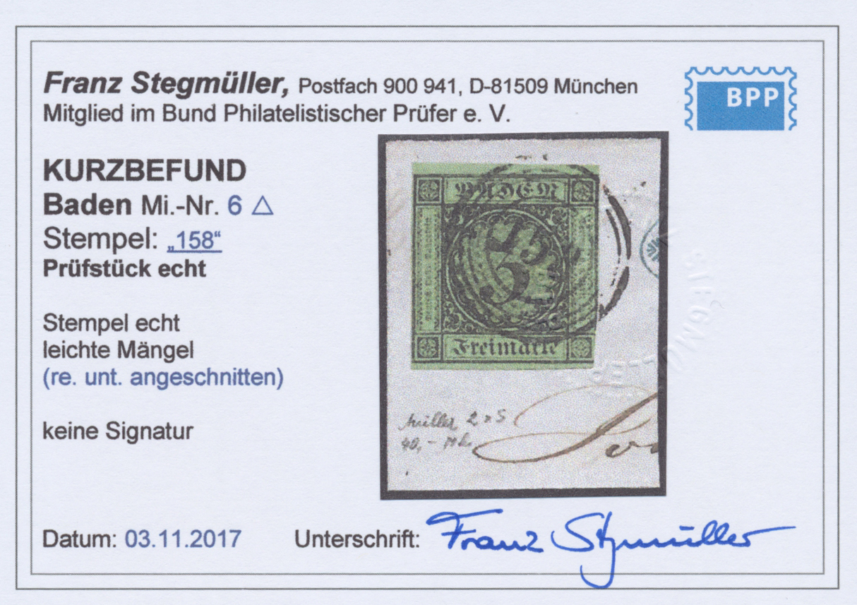 Lot 20076 - Baden - Nummernstempel  -  Auktionshaus Christoph Gärtner GmbH & Co. KG Single lots Germany + Picture Postcards. Auction #39 Day 5