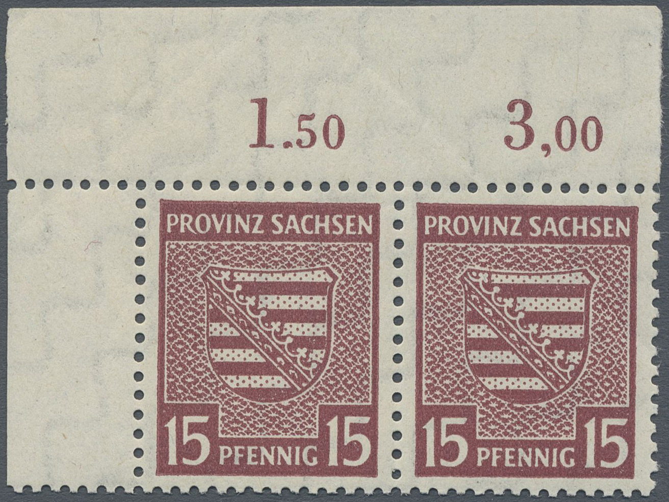 Lot 24140 - Sowjetische Zone - Provinz Sachsen  -  Auktionshaus Christoph Gärtner GmbH & Co. KG Single lots Germany + Picture Postcards. Auction #39 Day 5