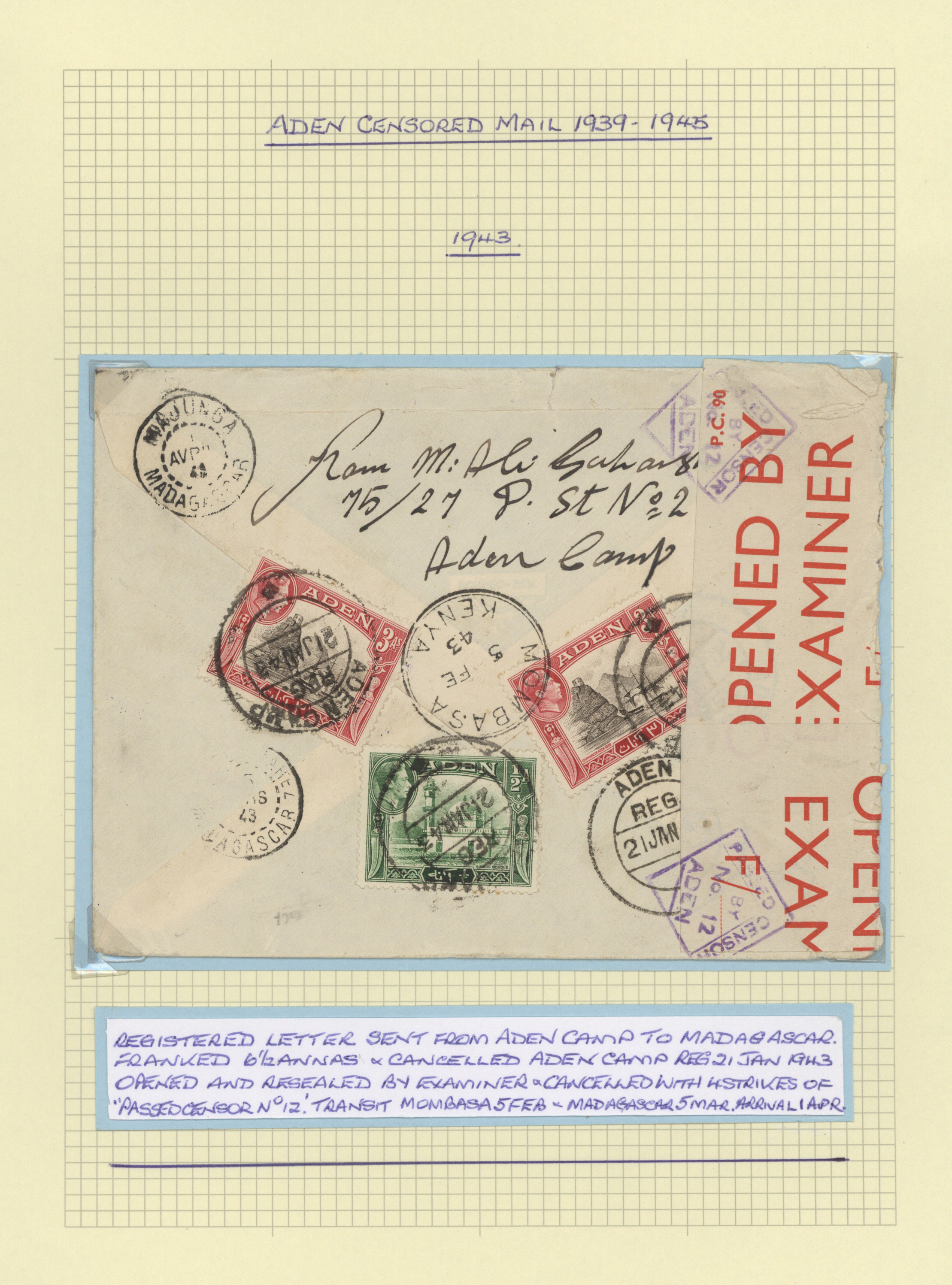 Lot 29005 - aden  -  Auktionshaus Christoph Gärtner GmbH & Co. KG Sale #43 Asia, Collections Overseas / Europe   Day 6