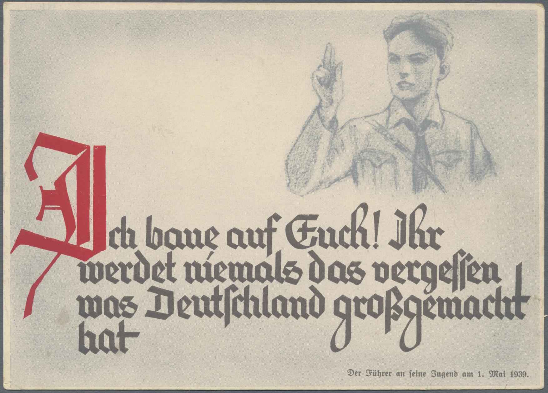 Lot 13794 - Ansichtskarten: Propaganda  -  Auktionshaus Christoph Gärtner GmbH & Co. KG 50th Auction Anniversary Auction - Day 4