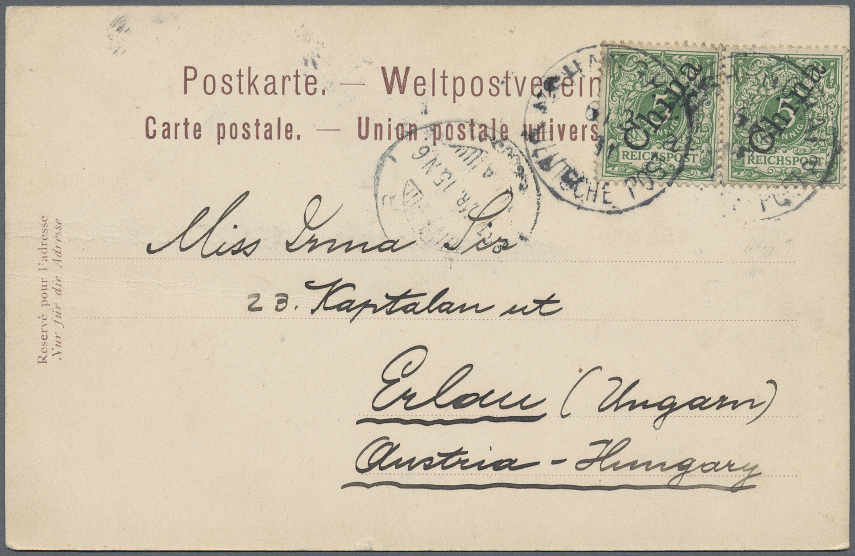Lot 24477 - China - Fremde Postanstalten / Foreign Offices  -  Auktionshaus Christoph Gärtner GmbH & Co. KG Sale #45Collections Worldwide
