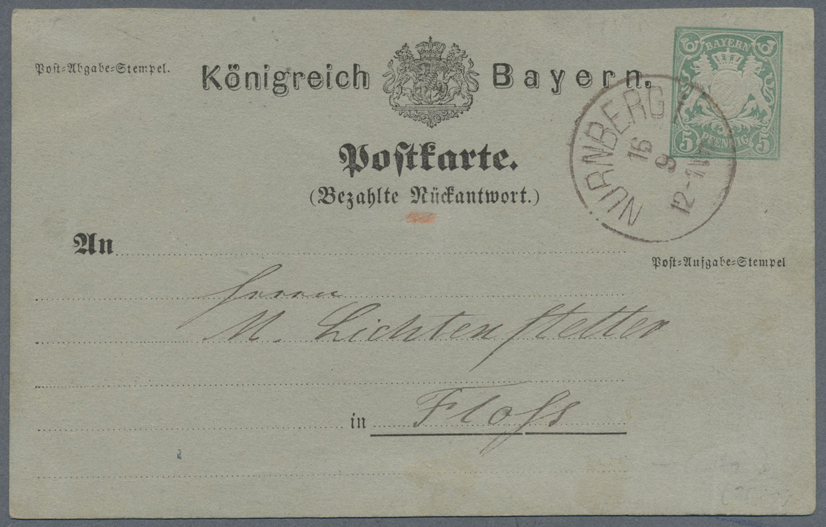 Lot 31226 - bayern - ganzsachen  -  Auktionshaus Christoph Gärtner GmbH & Co. KG Auction #40 Collections Germany, Wunderkartons