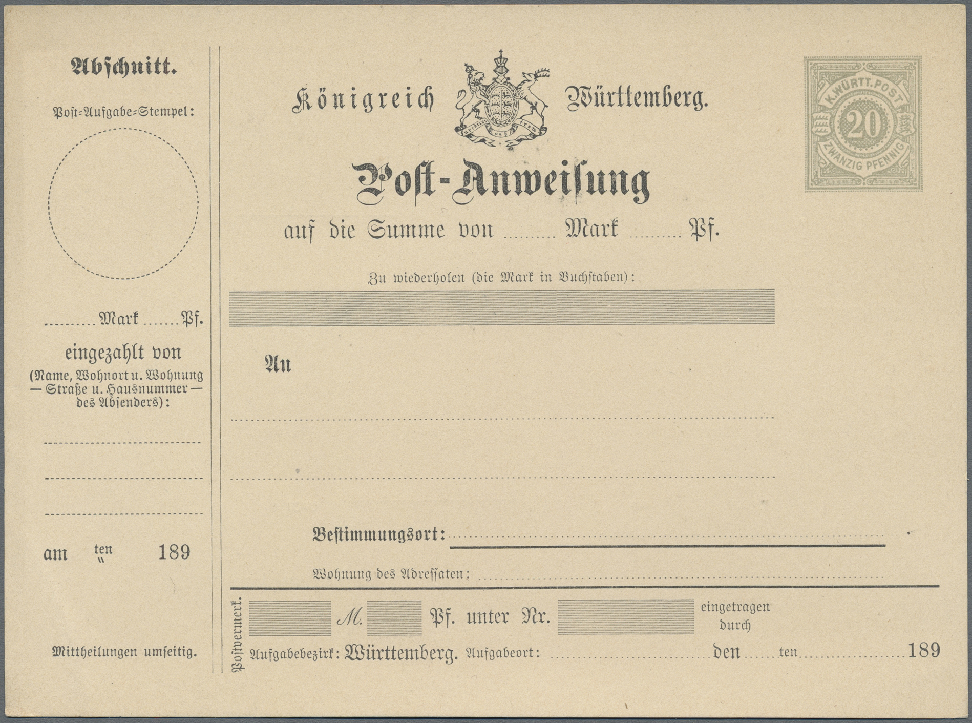 Lot 36351 - württemberg - ganzsachen  -  Auktionshaus Christoph Gärtner GmbH & Co. KG Sale #44 Collections Germany