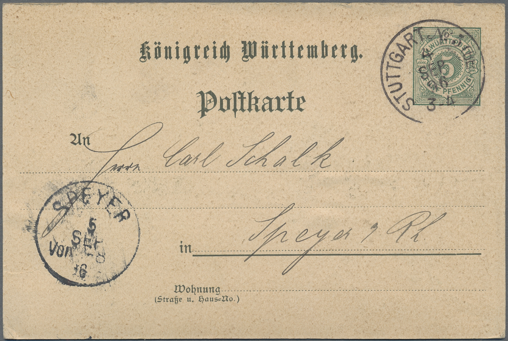 Lot 36353 - württemberg - ganzsachen  -  Auktionshaus Christoph Gärtner GmbH & Co. KG Sale #44 Collections Germany