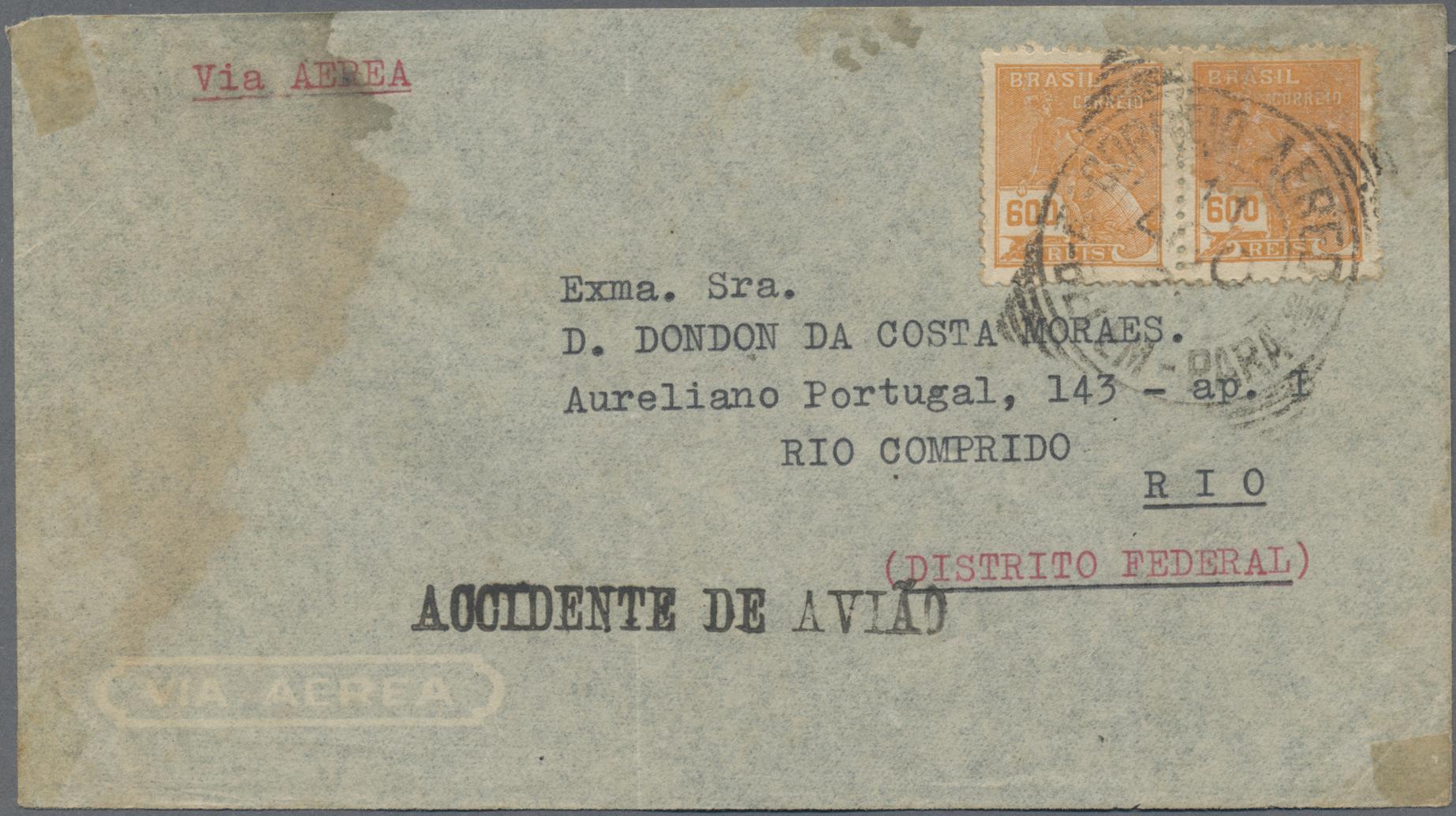 Lot 20294 - Brasilien - Flugpost  -  Auktionshaus Christoph Gärtner GmbH & Co. KG Sale #46 Collections Worldwide