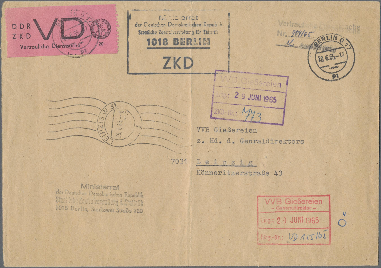 Lot 37405 - ddr - dienstmarken  -  Auktionshaus Christoph Gärtner GmbH & Co. KG Sale #44 Collections Germany